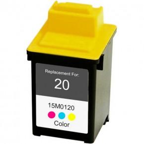 Justprint lexmark 20 - Ink Cartridge Compatible to Lexmark 20 Tri Color