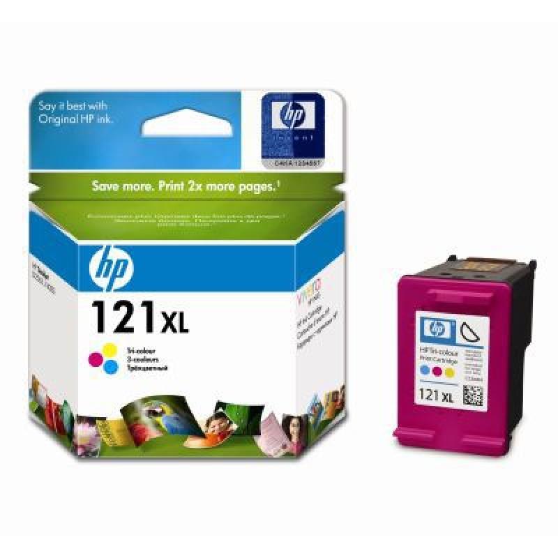 CC644HE-HP 121XL High Yield Tri-color Ink Cartridge