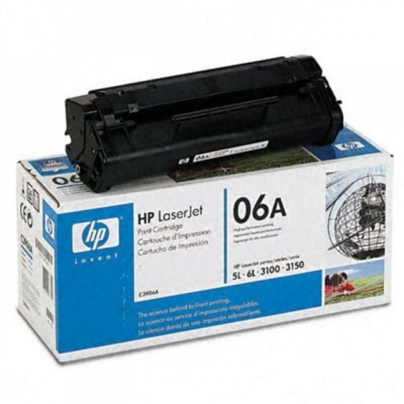 C3906A-HP 06A Black Original Toner Cartridge