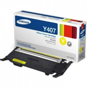 CLTY407S-Samsung CLT407 Yellow Original Toner Cartridge